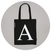 Malcolm & Gerald Black Tote Bag