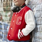 Malcolm & Gerald Embroidered Initial Varsity Jacket