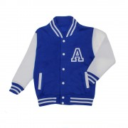 Malcolm & Gerald Blue Varsity Jacket with Silver Glitter